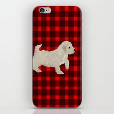 Cockapoo dog art cream iPhone & iPod Skin