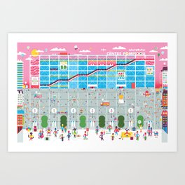 Paris, Centre Pompidou Art Print