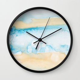 19   | Abstract Minimal Watercolor Painting | 191223 Wall Clock