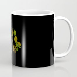 Robinia Pseudacacia Paper Flower Collage Vintage Botanical Floral Art Mary Delany Coffee Mug
