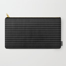 Black White Pinstripe Minimalist Carry-All Pouch