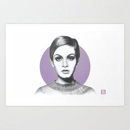 Icon Twiggy Art Print