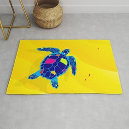 Paper Craft Sea Turtle Rug