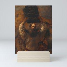 Moses with the Ten Commandments - Rembrandt Mini Art Print