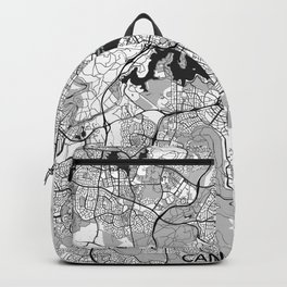 Canberra Map Gray Backpack