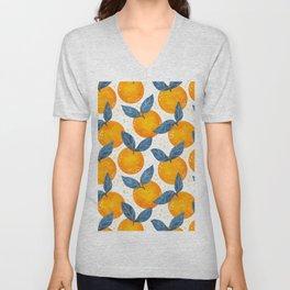 Cyprus Oranges - Blue and Orange Unisex V-Neck
