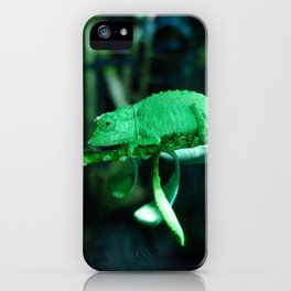Dwarf Chameleon in Green iPhone Case