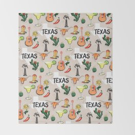 Classic Texas Icons Throw Blanket