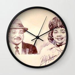 Martin Luther King & Coretta Scott King Wall Clock