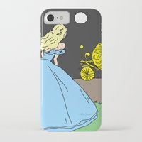 cinderella iPhone & iPod Cases featuring Cinderella by RaJess
