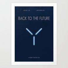 BTTF minimalist poster Art Print