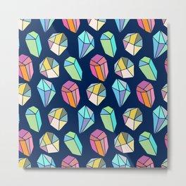 Colorful diamonds Pattern Metal Print