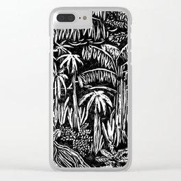 Rainforest block print Clear iPhone Case