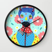 kpop Wall Clocks featuring Make Me Colourful by Saif Chowdhury