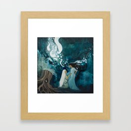 Mary and Elizabeth Framed Art Print