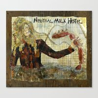 neutral milk hotel Canvas Prints featuring Neutral Milk Hotel by CHAR ODEN