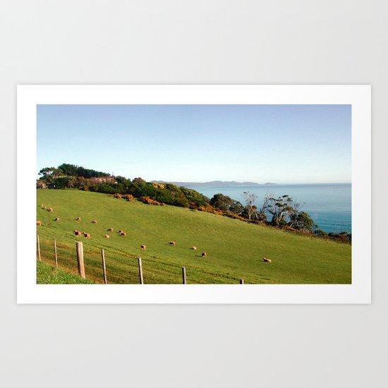Farm with a View Art Print