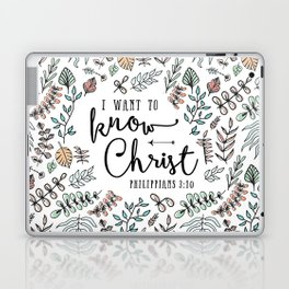 """""""I Want to Know Christ"""" Bible Verse - Color Laptop & iPad Skin"""