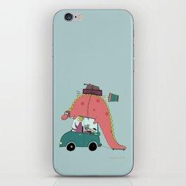 Dino on the move iPhone Skin