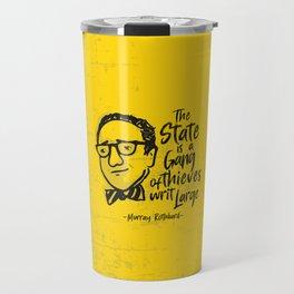 Murray Rothbard Illustration Travel Mug