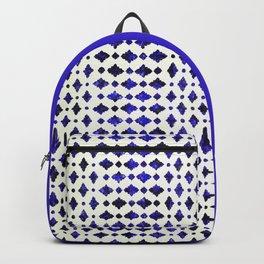 (N1) Royal Blue Traditional Moroccan Arabic Geometric Artwork Backpack
