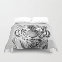 Tiger - Black & White Duvet Cover
