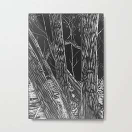 The Trees Are Watching Metal Print