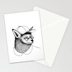Hipster Fox Stationery Cards