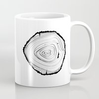 tree rings Mugs featuring Tree Rings by brittcorry