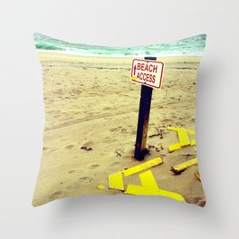 Beach Access Throw Pillow