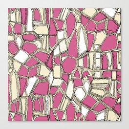 BROKEN POP pink Canvas Print
