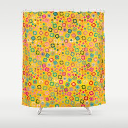 dp065-7 floral pattern Shower Curtain