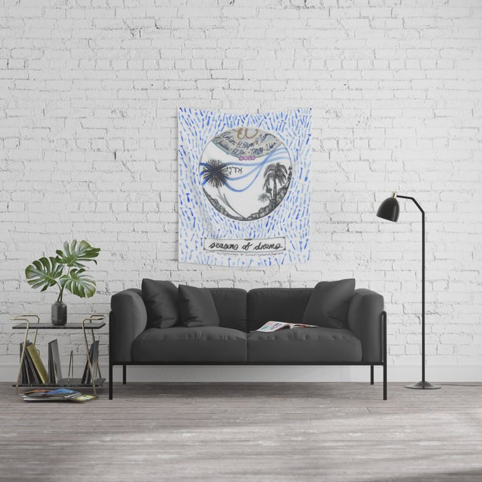 A pilgrimage to Israel Wall Tapestry
