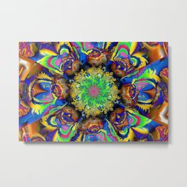 Over Commotion Metal Print