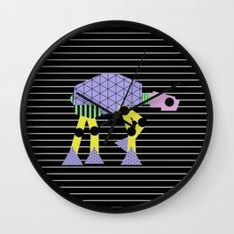 Geometric AT-AT Walker (Pastel Shapes Artwork - Cult Film) Wall Clock