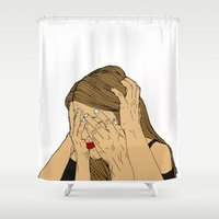 introvert Shower Curtains featuring Introvert 6 by Heidi Banford
