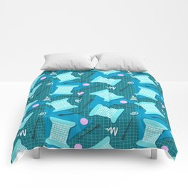 Memphis Sewing in Blue Comforters