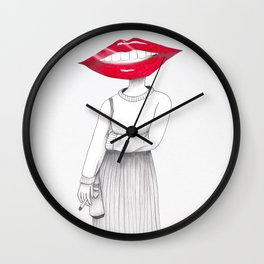 Lip Head Wall Clock