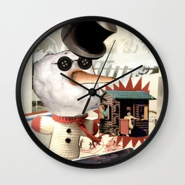 COLLAGE: Snow Wall Clock