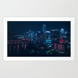 Austin Skyline from Rainey St Art Print