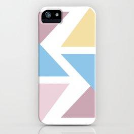 Geometric triangle pastel origami iPhone Case