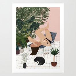 Sun salutations Art Print