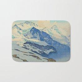 The Jungfrau Vintage Beautiful Japanese Woodblock Print Hiroshi Yoshida Bath Mat