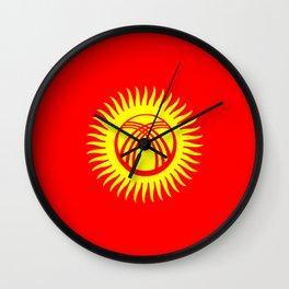 Kyrgyzstan country flag Wall Clock