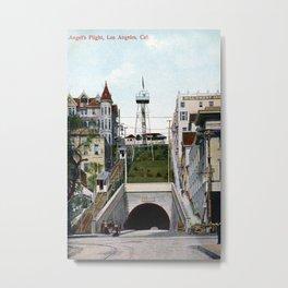 1901 Angel's Flight railway, Hill Street Los Angeles Metal Print