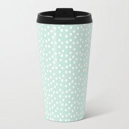 Mint Passion Thalertupfen White Pōlka Round Dots Pattern Pastels Travel Mug
