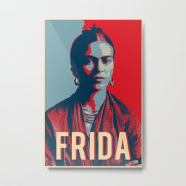 Frida Kahlo Hope Pop Art Metal Print