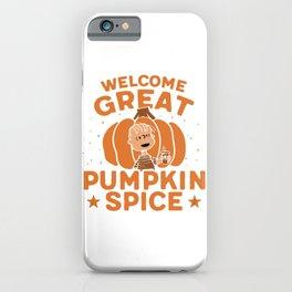 Great Pumpkin Spice iPhone Case