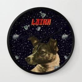 Gagarin space art #2 - Laika Wall Clock