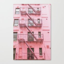 Pink Soho NYC Canvas Print